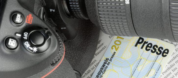Camera and press card