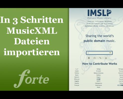MusicXML importieren